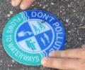 Storm Drain 'Don't Pollute' Sticker