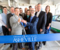 UNC Asheville ribbon cutting for new electric vehicle charging stations.