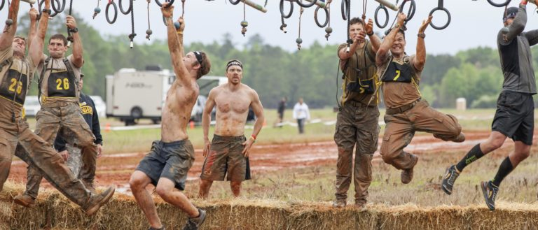Army Rangers and civilians compete in a Spartan Race in Fort Mitchell, Ala., April 16, 2016, held in conjunction with the 33rd annual Best Ranger Competition.