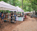 Festival goers at the out doors North Carolina Ceramic Arts Festival.