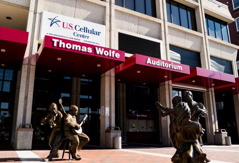 The exterior of the US Cellular Center's Thomas Wolfe Auditorium.