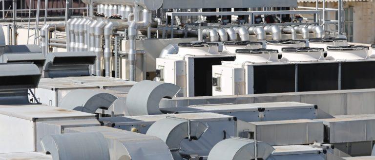 HVAC units on a roof.