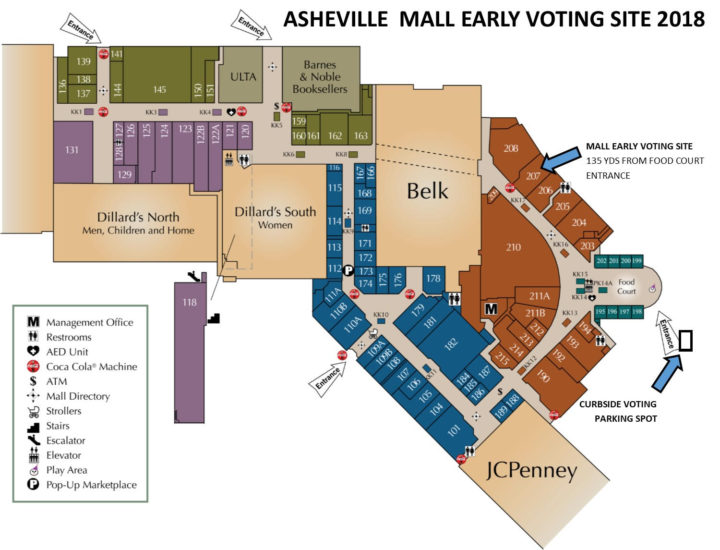 Asheville Mall Map Asheville Mall Early Voting Site Has Moved   Asheville.com