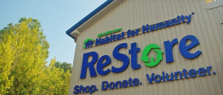 The exterior sign of Habitat ReStore.
