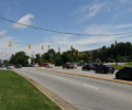 An intersection of Sweeten Creek Road in the proposed NCDOT changes.