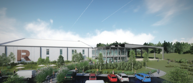 A rendering of the Riveter Outdoor Adventure Facility.
