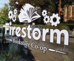 The entrance to Firestorm Books & Coffee.