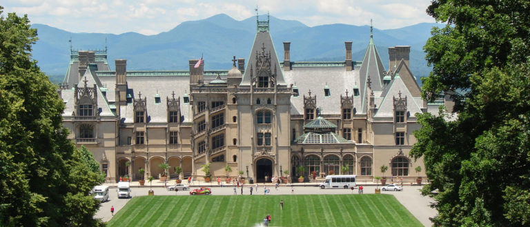 The front of Biltmore Estate.